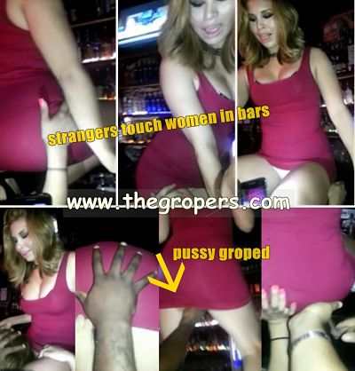 pussy groped in bar