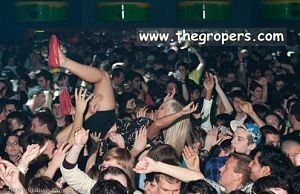 crowd surfing groping pussy