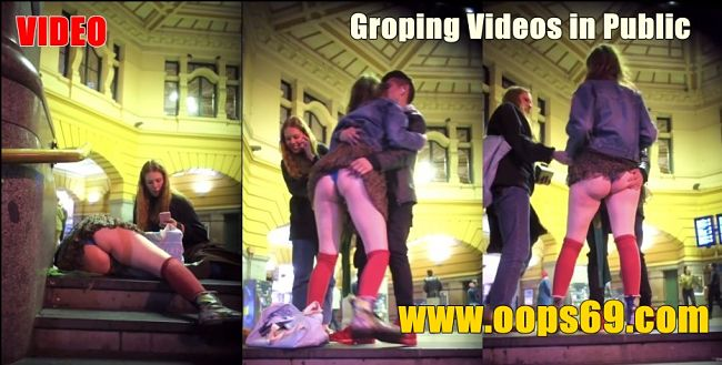Groping videos in public