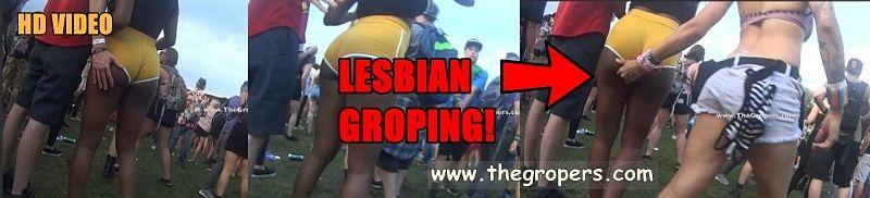 Lesbian groped in concert