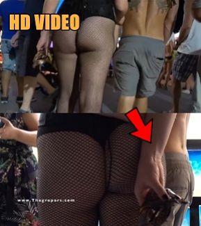 Touch ass outside bar